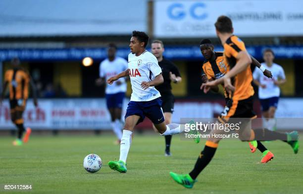 Dylan Duncan of Tottenham Hotspur during the pre season friendly match between Cambridge United and Tottenham U23 at Cambs Glass Stadium on July 21,...