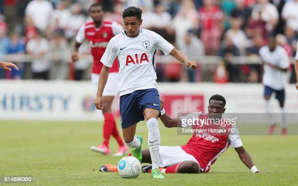 Dylan Duncan of Tottenham in action during the preseason friendly match between Ebbsfleet United and Tottenham Hotspur at Stonebridge Road on July 15...