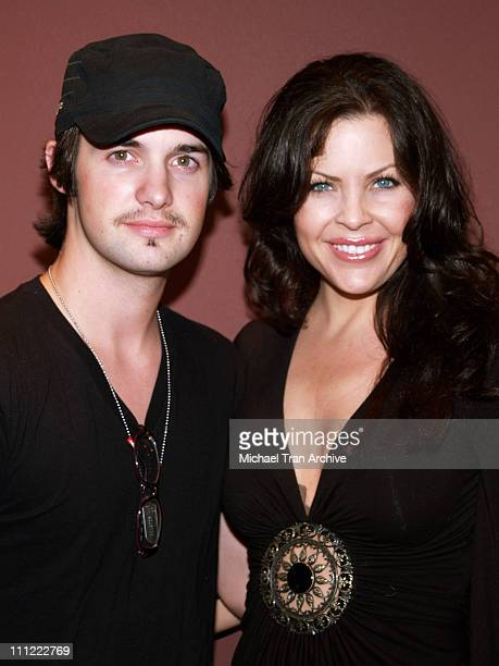 Dylan Edrington and Christa Campbell during '2001 Maniacs' Midnight Tour Kickoff Party at The Nuart in West Los Angeles California United States