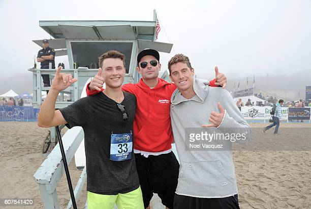 Dylan Efron actor Zac Efronn and olympic gold medalist Conor Dwyer participate in the Nautica Malibu Traithalon presented by Equinox at Zuma Beach on...