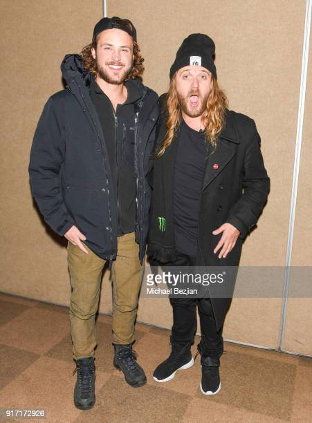 Dylan Efron and Dingo arrive at Inaugural Mammoth Film Festival Day 4 on February 11 2018 in Mammoth Lakes California