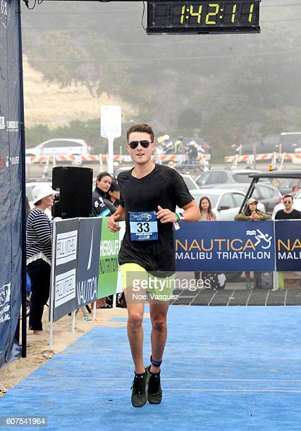 Dylan Efron participates in the Nautica Malibu Traithalon presented by Equinox at Zuma Beach on September 18 2016 in Malibu California