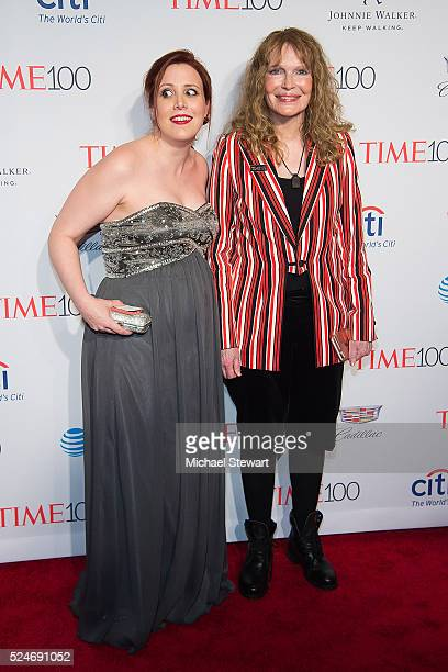 Dylan Farrow and actress Mia Farrow attend the 2016 Time 100 Gala at Frederick P Rose Hall Jazz at Lincoln Center on April 26 2016 in New York City