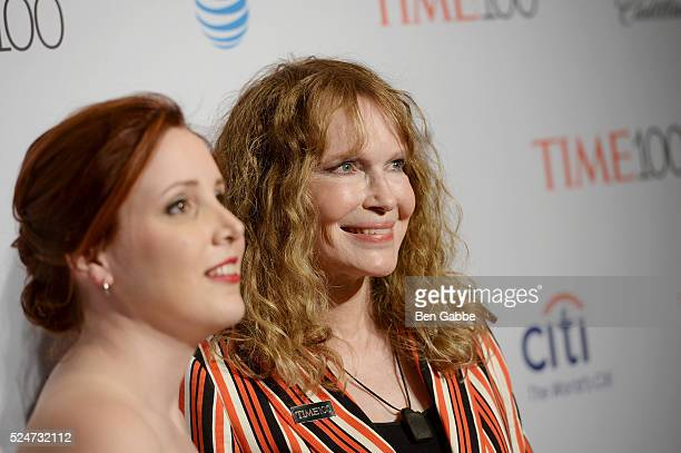 Dylan Farrow and Mia Farrow attend 2016 Time 100 Gala Time's Most Influential People In The World red carpet at Jazz At Lincoln Center at the Times...