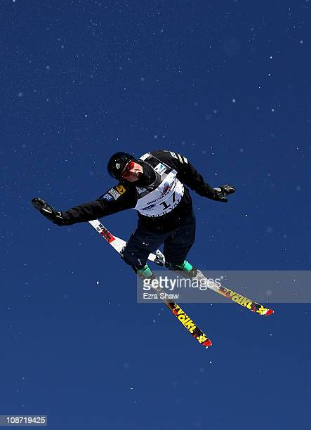 Dylan Ferguson of the USA jumps during a aerial training session for the FIS Freestyle World Ski Championships at Deer Valley Resort on February 1...