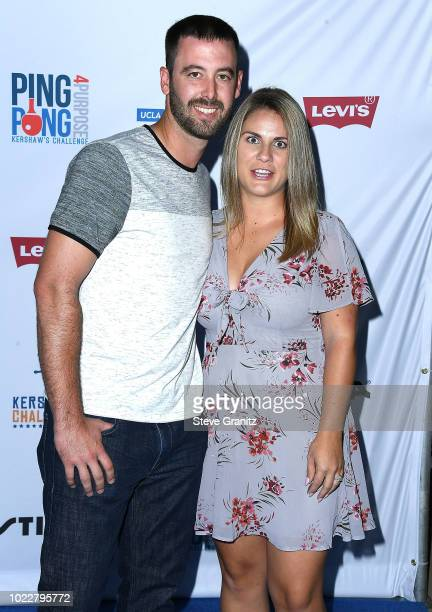 Dylan Floro arrives at the 6th Annual PingPong4Purpose at Dodger Stadium on August 23 2018 in Los Angeles California