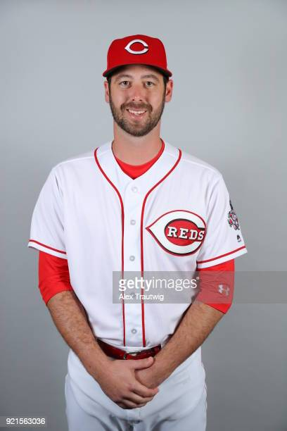 Dylan Floro of the Cincinnati Reds poses during Photo Day on Tuesday February 20 2018 at Goodyear Ballpark in Goodyear Arizona