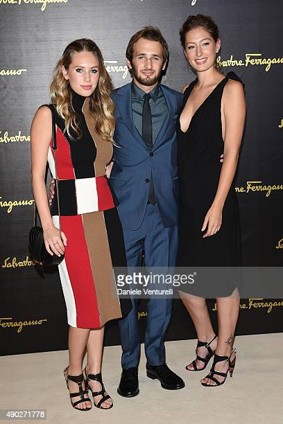 Dylan Frances Penn Uma Von Wittkamp and Hopper Penn attend the Salvatore Ferragamo show during the Milan Fashion Week Spring/Summer 2016 on September...