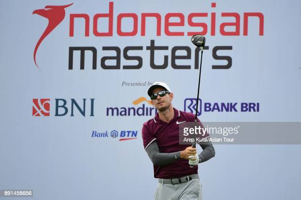 Dylan Fritelli of South Africa pictured during the Pro AM tournament ahead of the 2018 Indonesian Masters at Royale Jakarta Golf Club on December 13...