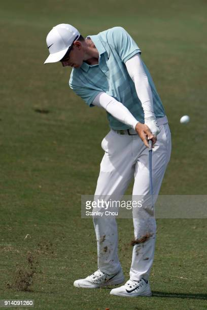 Dylan Frittelli of South Africa in action during day four of the Maybank Championship Malaysia at Saujana Golf and Country Club on February 4 2018 in...