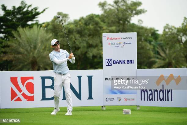 Dylan Frittelli of South Africa pictured during round one of the 2017 Indonesian Masters at Royale Jakarta Golf Club on December 14 2017 in Jakarta...