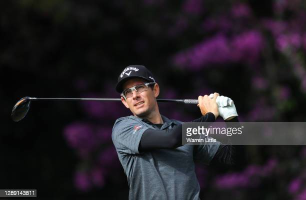 Dylan Frittelli of South Africa plays his tee shot on the 10th hole during Day One of the South African Open at Gary Player CC on December 03, 2020...