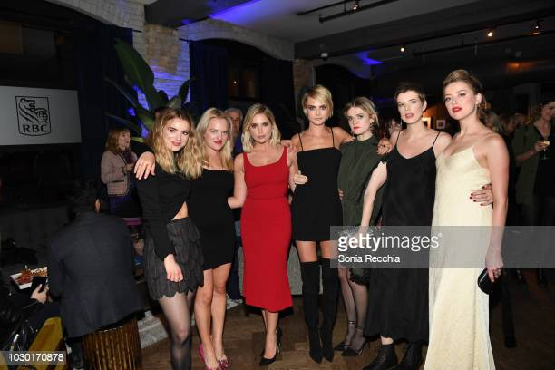 "Dylan Gelula, Elisabeth Moss, Ashley Benson, Cara Delevingne, Gayle Rankin, Agyness Deyn and Amber Heard attend RBC hosted ""Her Smell"" cocktail party..."