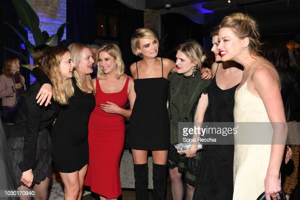 Dylan Gelula Elisabeth Moss Ashley Benson Cara Delevingne Gayle Rankin Agyness Deyn and Amber Heard attend RBC hosted Her Smell cocktail party at RBC...