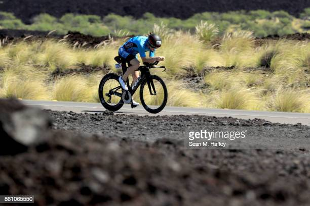 Dylan Gleeson of Canada trains before the IRONMAN World Championship on October 13 2017 in Kailua Kona Hawaii