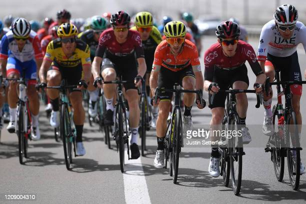 Dylan Groenewegen of The Netherlands and Team Jumbo Visma / Salvatore Puccio of Italy and Team INEOS / Adam Yates of The United Kingdom and Team...