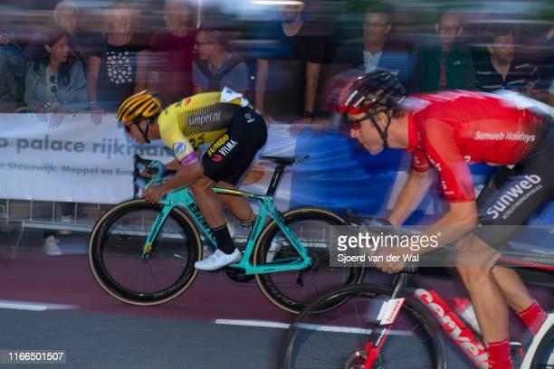 Dylan Groenewegen of The Netherlands and Team Jumbo-Visma and Cees Bol of the Netherlands and Team Sunweb during the 2019 Spektakel van Steenwijk on...