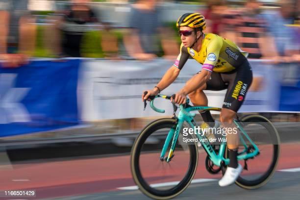 Dylan Groenewegen of The Netherlands and Team Jumbo-Visma during the 2019 Spektakel van Steenwijk on August 6, 2019 in Steenwijk,Netherlands.