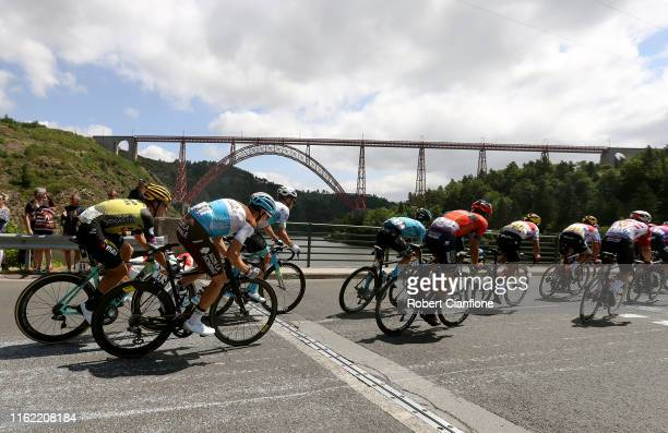 Dylan Groenewegen of The Netherlands and Team JumboVisma / Mathias Frank of Switzerland and Team AG2R La Mondiale / Alexey Lutsenko of Kazakhstan and...
