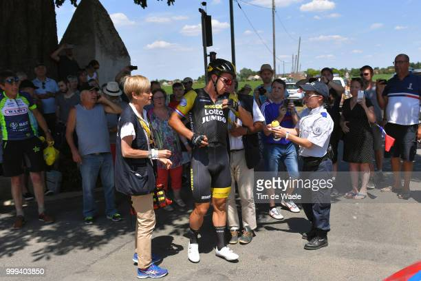Dylan Groenewegen of The Netherlands and Team LottoNL - Jumbo / Crash / Injury / Fans / Public / Police / during the 105th Tour de France 2018, Stage...