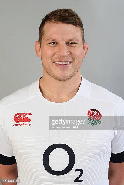 Dylan Hartley of England poses for a portrait during the England Six Nations Squad Photo Call at the Penny Hill Hotel on January 20 2014 in Bagshot...