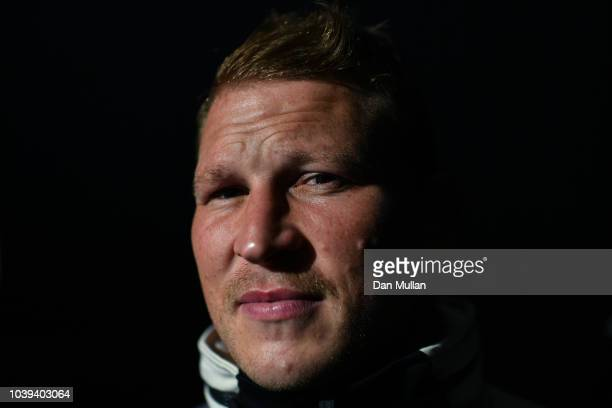 Dylan Hartley of England poses for a portrait following a press conference at the Radisson Hotel on September 24, 2018 in Bristol, England.