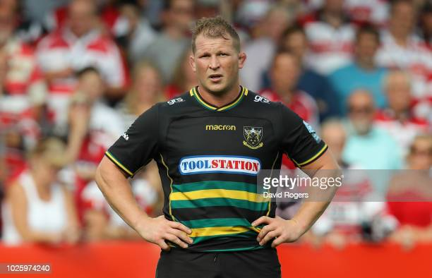 Dylan Hartley of Northampton Saints looks on during the Gallagher Premiership Rugby match between Gloucester Rugby and Northampton Saints at...