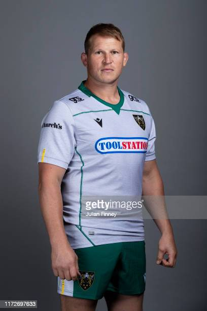 Dylan Hartley of Northampton Saints poses for a portrait during the Northampton Saints squad photocall for the 20192020 Gallagher Premiership Rugby...