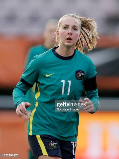 Dylan Holmes of Australia Women during the International Friendly Women match between Holland v Australia at the Goffert Stadium on April 13, 2021 in...