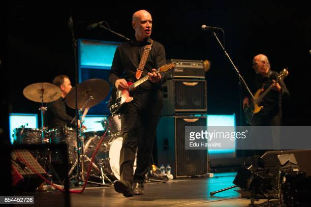 Dylan Howe Wilko Johnson and Norman WattRoy perform live on stage at The Royal Albert Hall on September 26 2017 in London England