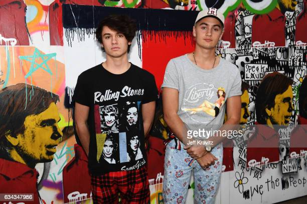 Dylan Jagger Lee and Brandon Thomas Lee attend the TommyLand Tommy Hilfiger Spring 2017 Fashion Show on February 8 2017 in Venice California