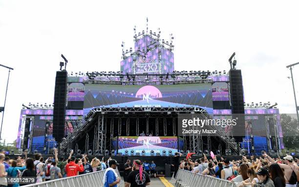 Dylan Jagger Lee and Kyle Girard of Midnight Kids perform onstage during the 2019 Electric Zoo Festival at Randall's Island on