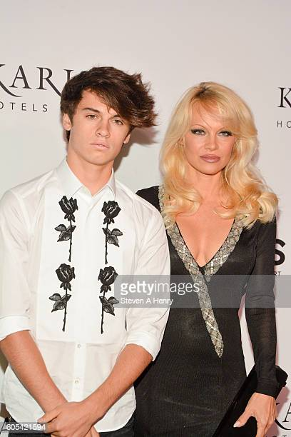 Dylan Jagger Lee and Pamela Anderson attend the 2nd Annual Unitas Gala Against Human Trafficking at Capitale on September 13 2016 in New York City