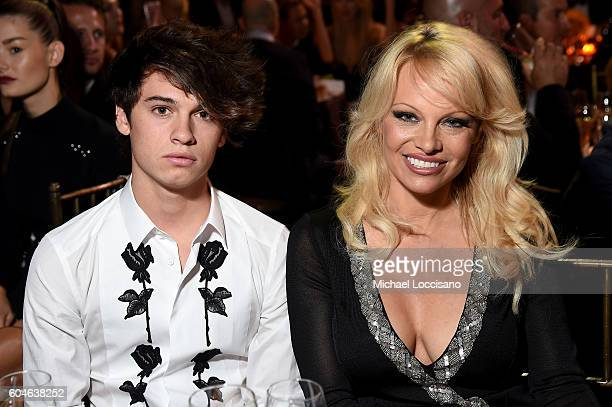 Dylan Jagger Lee and Pamela Anderson attend the UNITAS 2nd annual gala against human trafficking at Capitale on September 13 2016 in New York City