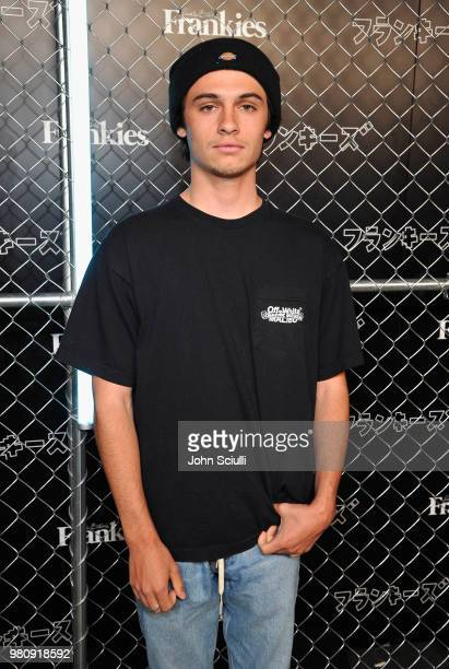 Dylan Jagger Lee attends Frankies Bikinis Resort 2019 runway show on June 21 2018 in Los Angeles California