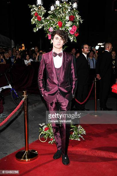 Dylan Jagger Lee attends the DolceGabbana Boutique Opening Event during Milan Fashion Week Spring/Summer 2017 on September 25 2016 in Milan Italy