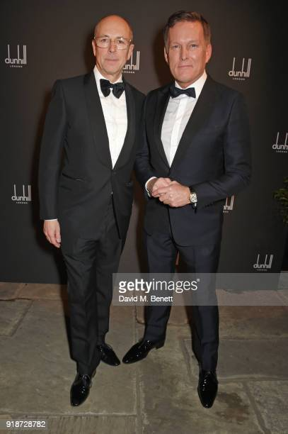 Dylan Jones and Andrew Maag Dunhill CEO attends the Dunhill GQ preBAFTA filmmakers dinner and party cohosted by Andrew Maag Dylan Jones at Bourdon...