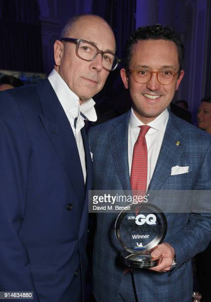 Dylan Jones and Francesco Balli attend the GQ Car Awards 2018 in association with Michelin at Corinthia London on February 5 2018 in London England