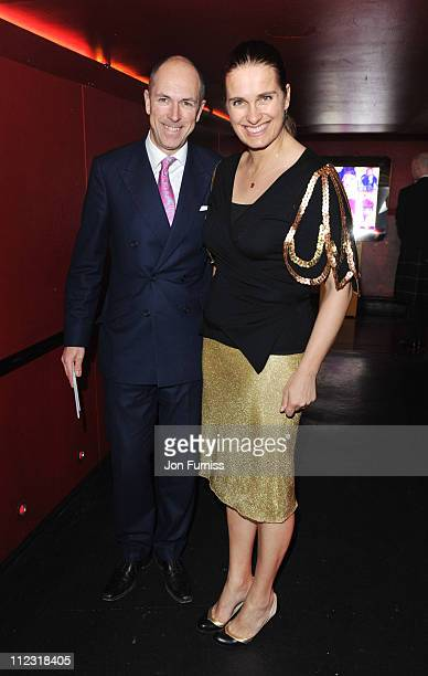 Dylan Jones and guest attend the ICA fundraising gala at KOKO on March 24 2010 in London England