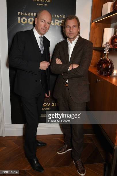 Dylan Jones and Ludovic du Plessis attend as LOUIS XIII and Dylan Jones GQ Editor in Chief cohost Intimate Dinner Celebrating the brand's '100 Years'...