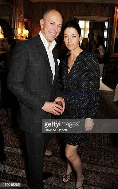 Dylan Jones and Mary McCartney attend the launch of 'The Eighties One Day One Decade' by GQ editor Dylan Jones at Mark's Club on June 6 2013 in...