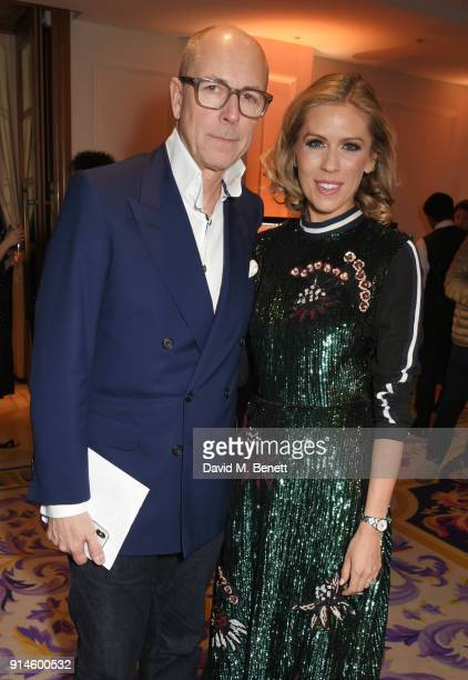 Dylan Jones and Nicki Shields attend the GQ Car Awards 2018 in association with Michelin at Corinthia London on February 5 2018 in London England