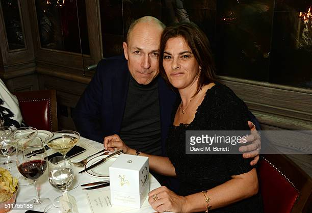 Dylan Jones and Tracey Emin attend the launch of Tracey Emin and Stephen Webster's new jewellery collection 'I Promise To Love You' at 34 Grosvenor...