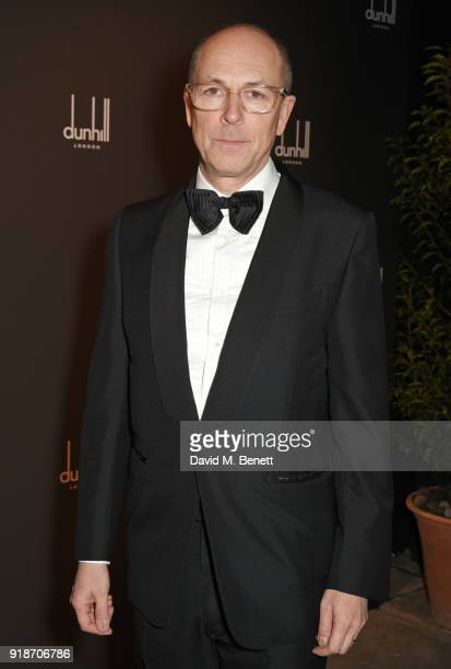 Dylan Jones attends the Dunhill GQ preBAFTA filmmakers dinner and party cohosted by Andrew Maag Dylan Jones at Bourdon House on February 15 2018 in...