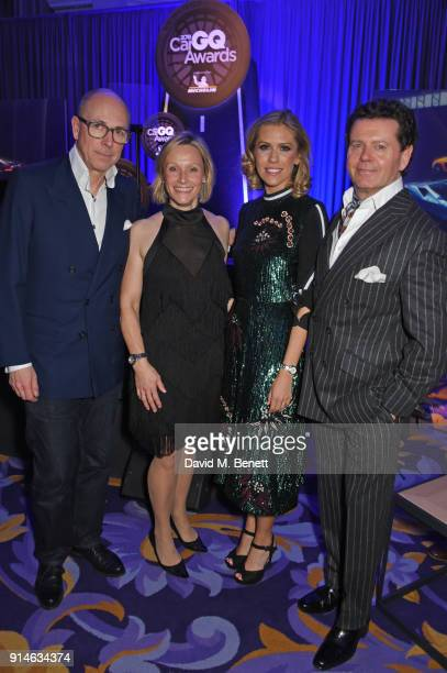 Dylan Jones Vicki ButlerHenderson Nicki Shields and Gerry McGovern attend the GQ Car Awards 2018 in association with Michelin at Corinthia London on...