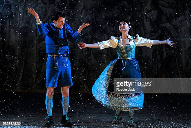 Dylan Kennedy as Hansel and Ruby Bentall as Gretel in Lucy Kirkwood's Hansel and Gretel directed by Katie Mitchell at the National Theatre in London