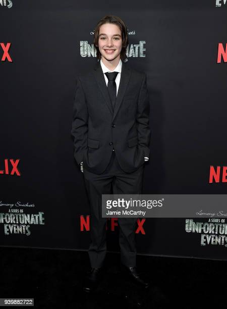 Dylan Kingwell attends the 'A Series Of Unfortunate Events' Season 2 Premiere at Metrograph on March 29 2018 in New York City