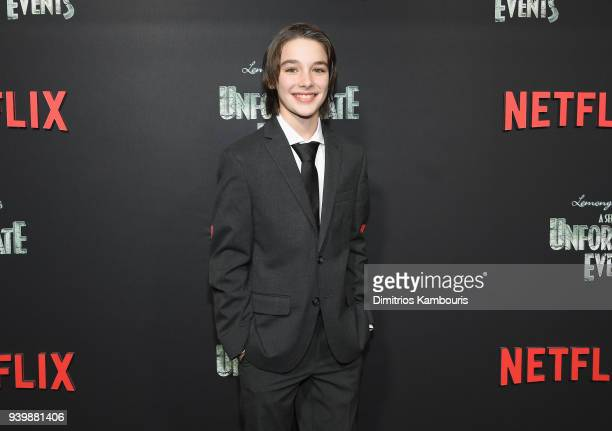 Dylan Kingwell attends the Netflix Premiere of 'A Series of Unfortunate Events' Season 2 on March 29 2018 in New York City