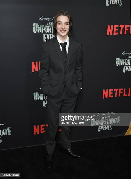 Dylan Kingwell attends the Netflix Premiere of 'A Series of Unfortunate Events' Season 2 on March 29 2018 in New York City / AFP PHOTO / ANGELA WEISS