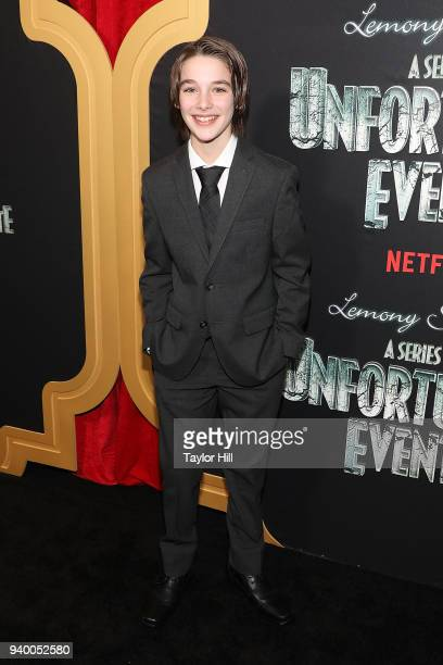 Dylan Kingwell attends the the Season 2 premiere of Netflix's A Series Of Unfortunate Events at Metrograph on March 29 2018 in New York City